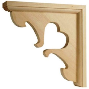 Heart Design Shelf Bracket, 7 x 7 inches.