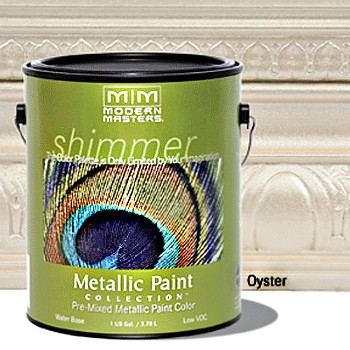 Metallic Paint, Oyster Matte Finish - 1 Gallon