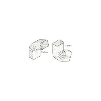 15457gv10 3in. Galv #3b Sq Elbow