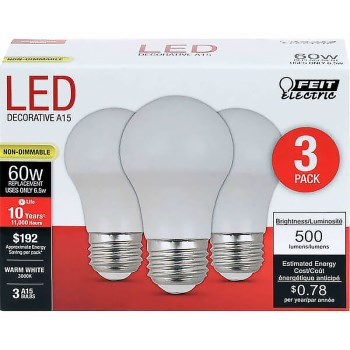 LED LIGHTBULBS, 500 Lumen ~ 6.5 Watt for 60 Watt