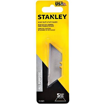 Utility Knife Replacement Blades, Heavy Duty ~ 5 Count Card