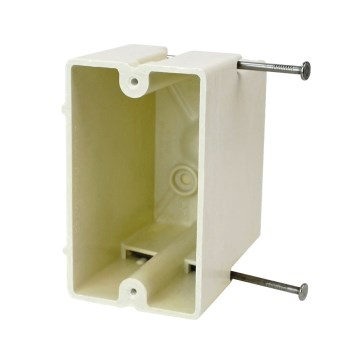 Allied Moulded Prods 1098=N Single Gang Electrical Box