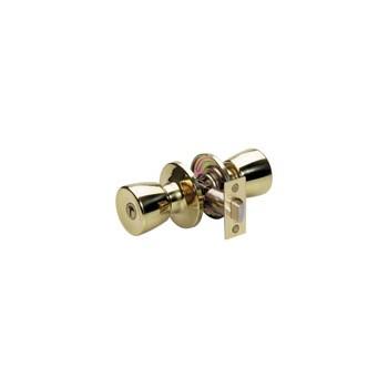 MasterLock TUO0303 Privacy Lock, Tulip Design - Polished Brass