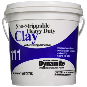 Clay Wallcovering Adhesive, Non-Strippable ~ Gallon