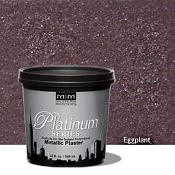 Metallic Plaster~  Eggplant, Gallon