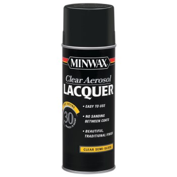 Aerosol Semi-Gloss Lacquer, Clear ~ 12.25-oz