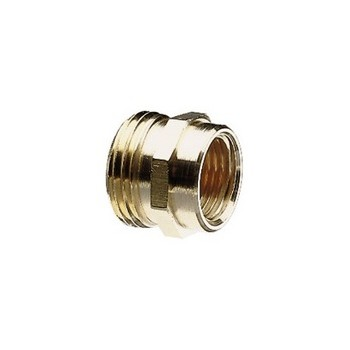 Male & Female Hose Connector, Brass ~ 3/4""