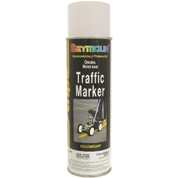 Traffic Stripe Marker Paint, White ~ 20oz