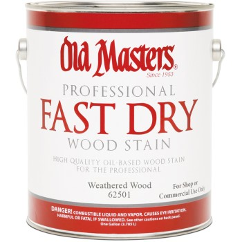 Fast Dry Wood Stain,  Weathered Wood ~ Gallon