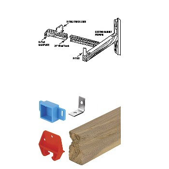 Drawer Track Repair Kit ~ Wood