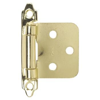 Hardware House  Flush Cabinet Hinge, Brass