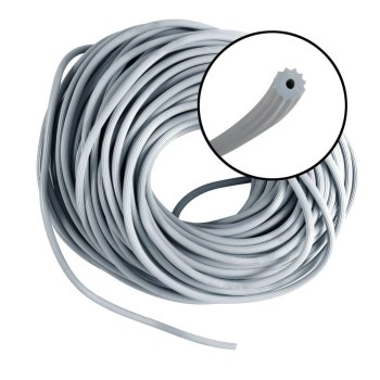 "Screen Retainer Round Spline, Gray ~ 3/16"" D x 25 Ft L"