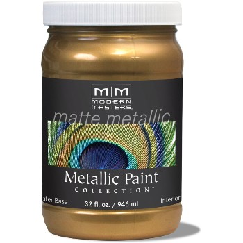 Matte Metallic Paint ~ Brass, Quart
