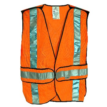3M 078371946258 Safety Vest, Fluorescent Orange ~ Class 2