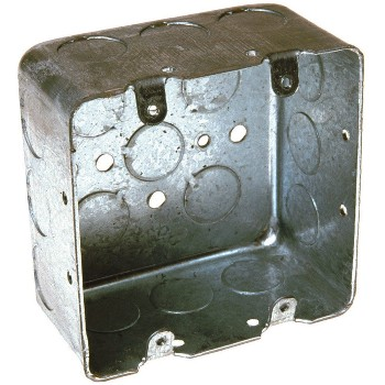 "Square Switch Box,  2-Gang ~ 4"" x 2 1/8"" Deep"
