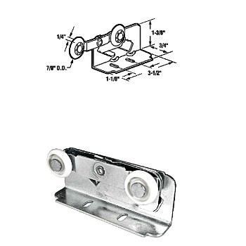 Pocket Door Roller - Twin Mount - N6531