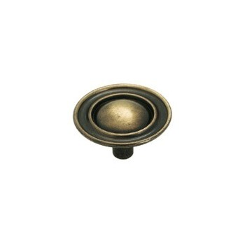 Knob - Antique Brass Finish - 1.5 inch