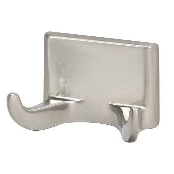 Double Robe Hook, Sunset Satin Nickel