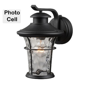Wall Lantern, Black Photo Cell ~ 11 1/4""