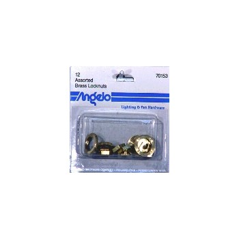 Locknuts - Brass - Assorted
