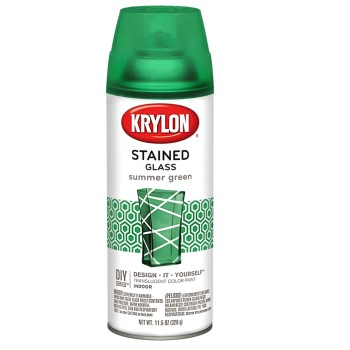 Stained Glass Aerosol Spray Paint, Summer Green ~ 11.5 oz