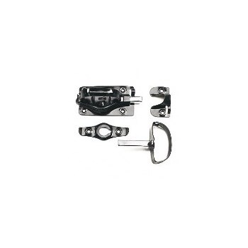 Buy The Albany Hardware 101b Barn Door Latch Black Hardware World