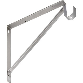 Shelf Hanging Rod Bracket, Satin Nickel