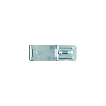 Zinc Double Hinge Safety Hasp, visual pack 34  4 - 1 / 2 inches.