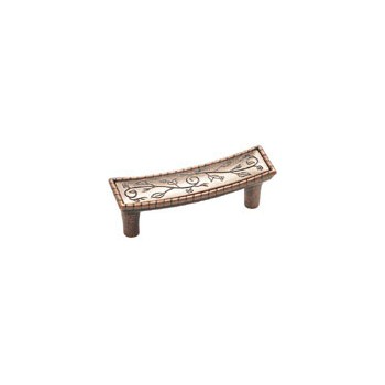Pull - Vineyard Crescent Weathered Copper Finish - 3 inch