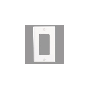 Decora Standard Wall Plate - White