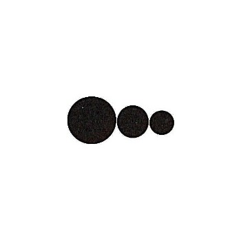 National  Assorted Sizes BLack Felt Pads, VIsual Pack 1717