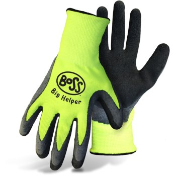 Boss 8412K Kids Gardening Gloves, Hi-Vis ~ Ages 9 - 12
