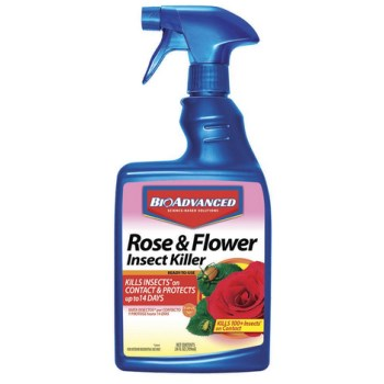 Insect Killer, Dual Action for Rose & Flower - 24 oz