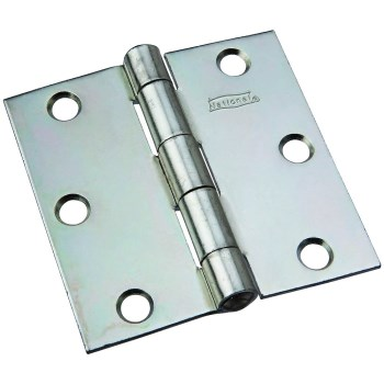 "Non-Removable Pin Hinge, Zinc ~ 3"" x 3"""