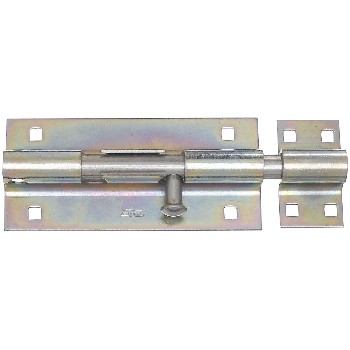Extra Heavy Barrel Bolt, Zinc Plated ~ 8""