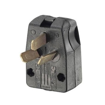 Angle Plug, Dual-Power ~ 3-Wire  30/50 Amp