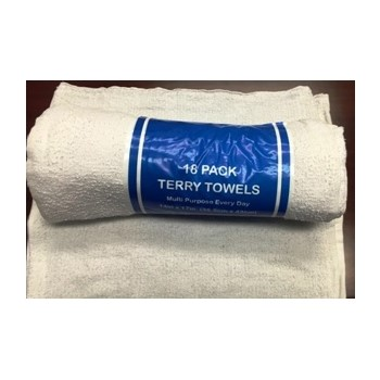 18pk White Terry Towel