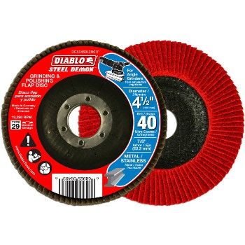 Diablo Steel  Grinding & Polishing Flap Disc, 40g ~ 4.5""