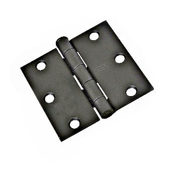 Square Corner Door Hinge, Black ~ 3 x 3 ""