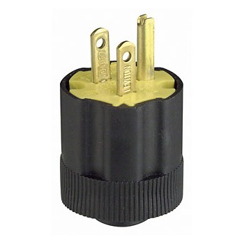 Leviton 000-113 Grounding Plug, 3 Wire ~ 15 AMP