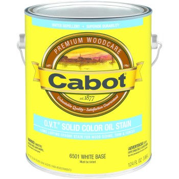 Cabot 01-6501 OVT Solid Color Oil Stain, White Base  ~ Gallon