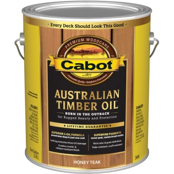 Cabot 01-3458 Australian Timber Oil, Honey Teak ~ Gallon