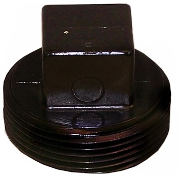 Threaded Cleanout Plug, ABS-DWV ~ 4""