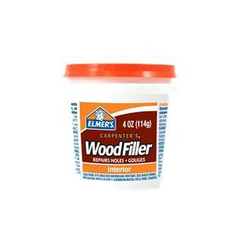 Elmers   E847D12 Interior Wood Filler, 1/4 pint
