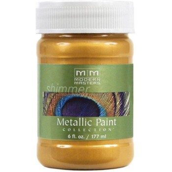 Metallic Paint, Pale Gold  ~ 6 Ounce