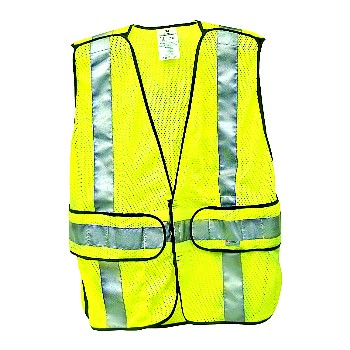 3M 078371946173 Safety Vest, Fluorescent Yelllow ~ Class 2