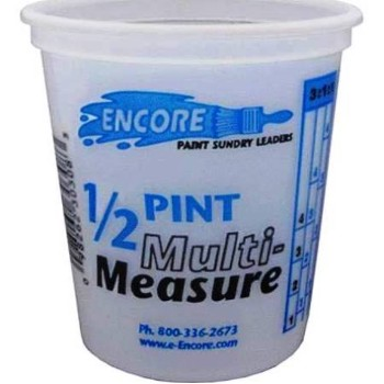 Mix N' Measure Container, Plastic - 1/2 Pint