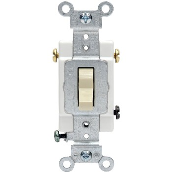 Toggle 3-Way Quiet Switch ~ Light Almond