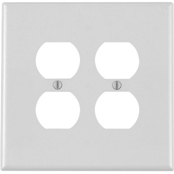Duplex 2-Gang Receptacle Wall Plate ~ White