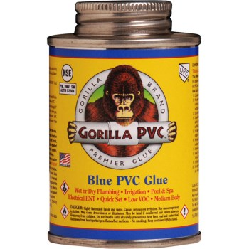 Gorilla  08102 Blue Hot PVC Glue ~ 8 oz
